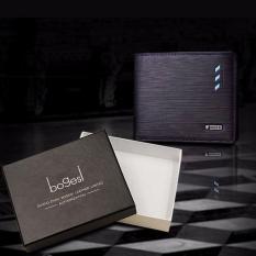 BEST Dompet + Box IMPOR Fashion Bogesi 724 Style Elegan Pria Wanita Cowo - HITAM RENDAH