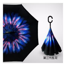 BEST Payung Terbalik Gagang C Reverse Umbrella Payung Lipat / Mobil - 21 BIRU