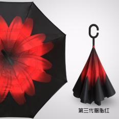 Spesifikasi Best Payung Terbalik Gagang C Reverse Umbrella Payung Lipat Mobil 24 Merah Yg Baik