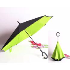 Toko Best Payung Terbalik Kazbrella 01 Gagang C Reverse Umbrella Payung Lipat Mobil Hijau Muda Online