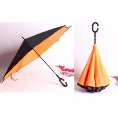 Spesifikasi Best Payung Terbalik Kazbrella 01 Gagang C Reverse Umbrella Payung Lipat Mobil Orange Bagus
