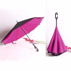 Spesifikasi Best Payung Terbalik Kazbrella 01 Gagang C Reverse Umbrella Payung Lipat Mobil Pink Muda Merk Best