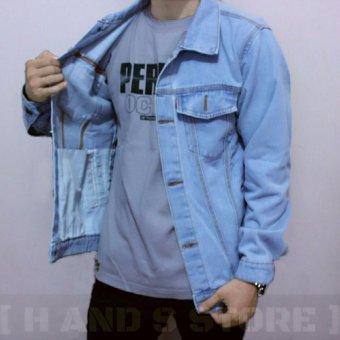 Beli Best Product Jacket Jeans Bioblitz Biru Muda Pake Kartu Kredit