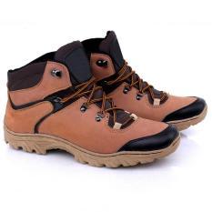 Best Quality Sepatu Boots Pria Kulit Asli 155 - Coklat