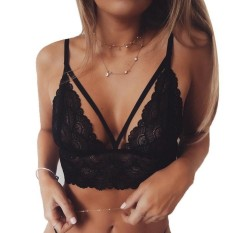 Diskon Best Seller Astar Women S*Xy Spaghetti Strap Bra Lace Floral S*Xy Bra Underwear Lingerie Black Intl Not Specified