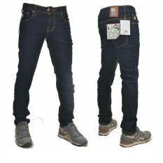 Promo Best Seller Fg Celana Jeans Skinny Pria Biru Hitam
