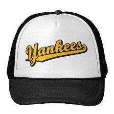 BEST SELLER HAT TOPI TRUCKER CUSTOM NEW YORK YANKEES 8 4 HITAM PUTIH Limited Item