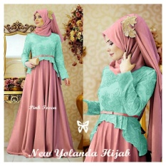 Ladies Fashion [Best Seller] Dress Gamis Remaja Muslimah  Amirah / Hijab Muslim / Muslim Syari Syar'i Hijab  / Busana Muslim Wanita / Kebaya Modern (landayo) SS - Tosca Peach D2C