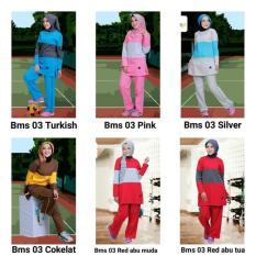 Best seller setelan olahraga anak muslim senam lari syar'i baju celana training Termurah