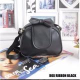 Review Toko Best Seller Tas Wanita Box Ribbon Black Hq Online
