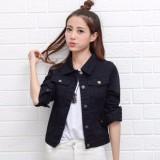 Toko Best Seller Uc Jaket Denim Medium Size Jacket Jeans Wanita Premium Bomber Parka Visky Nr Hitam D2C Unicell Distro Di Dki Jakarta