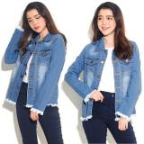 Beli Best Seller Uc Jaket Denim Oversize Jacket Jeans Wanita Premium Bomber Parka Loech Ingefr Vc Biru Tua Unicell Distro Dengan Harga Terjangkau