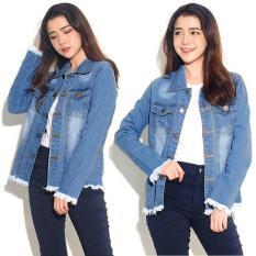 Toko Best Seller Uc Jaket Denim Oversize Jacket Jeans Wanita Premium Bomber Parka Loech Ingefr Vc Biru Tua Terlengkap Di Dki Jakarta