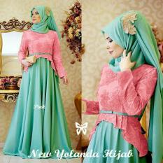 UC [Best Seller] Dress Gamis Muslim Amirah / Hijab Muslim / Muslim Syari Syar'i Hijab  / Busana Muslimahah Wanita / Kebaya Modern (landayo) SS - Pink Tosca / Gaun Pesta