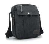 Diskon Produk Best Tas Kantor Kanvas F6662 Slempang Impor Multifungsi Pria Cowo Sling Bag Hitam