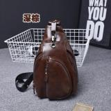 Toko Best Tas Korea Style Slempang Kulit R2109 Gadget Bag Retro Fashion Impor Cowo Coklat Tua Lengkap Dki Jakarta