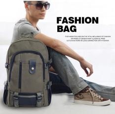 Toko Best Tas Ransel Fashion Impor Kanvas 8665 Cowo Cewe Kuliah Sekolah Bag Hijau Army Best Online