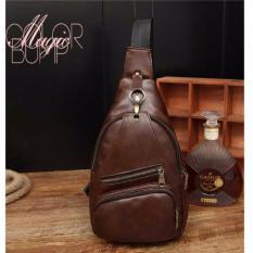 Harga Best Tas Retro Fashion Impor Cowo Korean Style Selempang Kulit Gadget Bag Coklat Tua Termurah