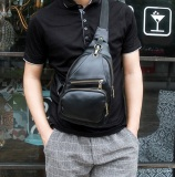 Review Terbaik Best Tas Retro Fashion Impor Cowo Korean Style Slempang Kulit Gadget Bag Hitam