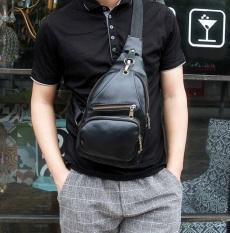 Review Best Tas Retro Fashion Impor Cowo Korean Style Slempang Kulit Gadget Bag Hitam Terbaru