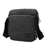 Harga Hemat Best Tas Slempang Simply Office F6663 Kanvas Kantor Sling Bag Cowo Pria Selempang Hitam
