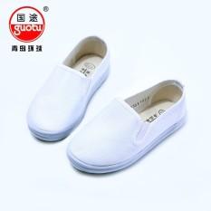 (Terbaik) -Anak Grosir Sepatu Tenis Murni Putih Kanvas Sepatu Renda Kecil Kain Sepatu Global Group Negara Sepatu Kanvas -Internasional