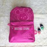 Miliki Segera Besties Tsum Canvas Tas Backpacks Ransel Fashion Wanita Uk 30X45Cm Pink