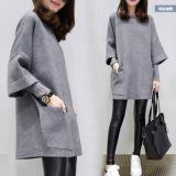 Model Bf Korea Fashion Style Bordir Angin Siswa Celana Kulot Sembilan Poin Celana Abu Abu Gaun Baju Wanita Celana Wanita Terbaru