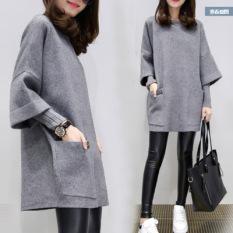 Kualitas Bf Korea Fashion Style Bordir Angin Siswa Celana Kulot Sembilan Poin Celana Abu Abu Gaun Baju Wanita Celana Wanita Other