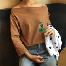 Ulasan Bft Kemeja Korea Fashion Style Warna Solid Atasan Seksi Siswa Kopi Warna