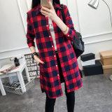Situs Review Bf Perempuan Slim Tipis Lengan Panjang Yard Besar Kemeja Kotak Kotak Kemeja Merah Merah Baju Wanita Baju Atasan Kemeja Wanita