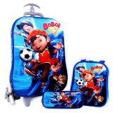 Jual Bgc Boboi Boy Koper Set Troley T Samurai Lunch Box Kotak Pensil 3D Timbul Import Hard Cover Tas Anak Sekolah Biru Branded Original