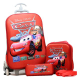 Spesifikasi Bgc Disney Cars Koper Set Troley T Lunch Box Kotak Pensil 3D Timbul Import Hard Cover Yg Baik