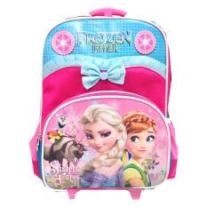 BGC Disney Frozen Anna Elsa Troley T Pita Renda Tas Anak Sekolah TK Pink Blue 2