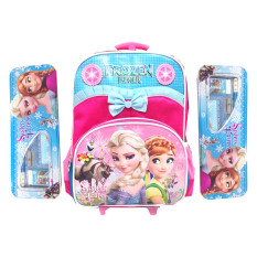 Jual Bgc Disney Frozen Anna Elsa Troley T Pita Renda Tas Anak Sekolah Tk Pink Blue 2 Kotak Pensil Dan Alat Tulis Frozen Ori