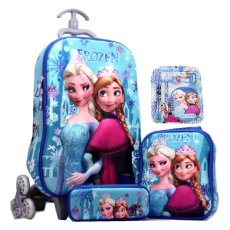 ... Kotak Pensil 3d Import Source · BGC Disney Frozen Elsa Anna Blue Snow 2 Koper Set Troley T Lunch Box
