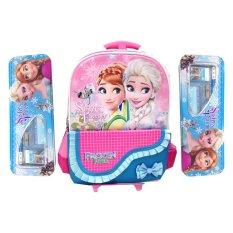 Harga Bgc Disney Frozen Elsa Anna Kantung Depan Pita Renda Tas Troley T Anak Sekolah Tk Blue Kotak Pensil Alat Tulis Merk Bgc