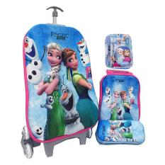 Ulasan Mengenai Bgc Disney Frozen Fever 2 Elsa Anna Koper Set Troley T Lunch Box Kotak Pensil Alat Tulis Frozen 3D Hard Cover Tas Anak Sekolah Biru