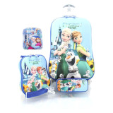 Review Terbaik Bgc Disney Frozen Fever Elsa Anna Koper Set Troley T Lunch Box Kotak Pensil Alat Tulis Frozen 3D Hard Cover Tas Anak Sekolah