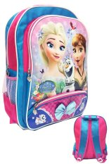 Bgc Disney Frozen Fever Elsa Anna Pink Biru Pita 3 Kantung Tas Ransel Anak Sekolah Sd Bgc Diskon
