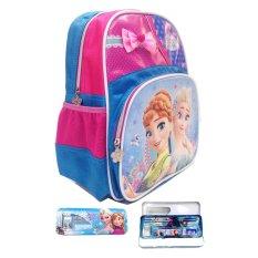 Promo Bgc Disney Frozen Fever Tas Ransel Anak Sekolah Elsa Anna Pita Biru Kotak Pensil Alat Tulis Bgc Terbaru