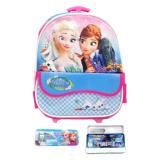 Beli Bgc Disney Frozen Fever Troley T Elsa Anna Kantung Depan Tas Anak Sekolah Tk Kotak Pensil Alat Tulis Biru Pink Secara Angsuran