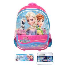 Beli Bgc Disney Frozen Fever Troley T Elsa Anna Kantung Depan Tas Anak Sekolah Tk Kotak Pensil Alat Tulis Pink Biru Bgc Online