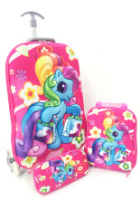 Diskon Bgc Disney My Pinkie Little Pony Best Friends Koper Set Troley T 6 Roda Lunch Bag Kotak Pensil Hard Cover Import Banten