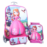 Harga Bgc Disney Sophia Frozen Friends Koper Set Troley T Lunch Box Kotak Pensil 3D Timbul Hard Cover Tas Anak Sekolah Origin