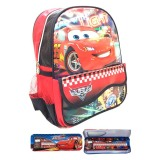 Ulasan Mengenai Bgc Disney Tas Sekolah Anak Tk Cars Racing Lightning Mc Queen 2 Kantung Depan Kotak Pensil Alat Tulis Merah