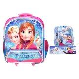 Review Toko Bgc Disney Troley T Frozen Sch**l Bag 2 Kantong Anna Dan Elsa Kotak Pensil Alat Tulis Biru