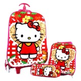 Jual Bgc Hello Kitty Flower Koper Set Troley T Lunch Box Kotak Pensil 3D Timbul Import Hard Cover Tas Anak Sekolah Merah Bgc Asli