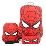 Tips Beli Bgc Marvel Spiderman Koper Set Troley T Lunch Box Kotak Pensil 3D Timbul Import Hard Cover Tas Anak Sekolah