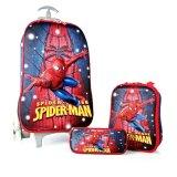 Beli Bgc Marvel Spiderman Star Koper Set Troley T Lunch Box Kotak Pensil 3D Timbul Import Hard Cover Tas Anak Sekolah Merah Biru Di Banten
